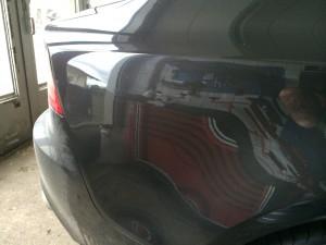 Dellen entfernen Audi A7 vorrichten zum Lackieren, Ergebnis sehr gut.