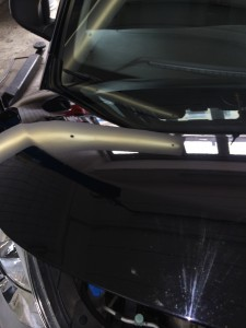 Dellen entfernen Hyundai nachher Ergbebnis gut kominiert mit Drücktechnik und Zugtechnik