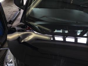 Dellen entfernen Hyundai vorher Schaden erheblich über die Motorhaubenkante